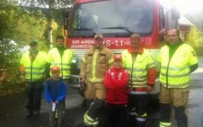 Åpen dag på brannstasjonen i Bagn