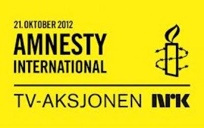 Kr. 107 914,-  fra Sør-Aurdal til Amnesty International