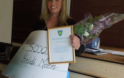 Positivprisen til Heidi Moen