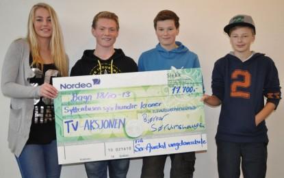 SAUS-elevene jobbet for TV-aksjonen