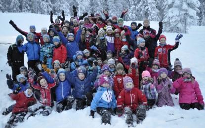 Skisamling på Leirskogen