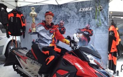 Eivind Heiene norgesmester i snøscooter-cross