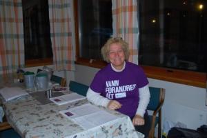 Aksjonsleder Liv Barbro.  Foto: Reidar Schlytter