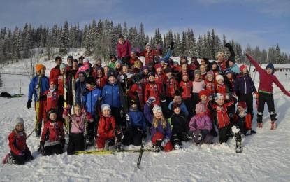 Populær og lærerik skisamling på Leirskogen