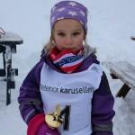 Dagens yngste deltager, 5 år gamle Oda Mikkelsgaard.