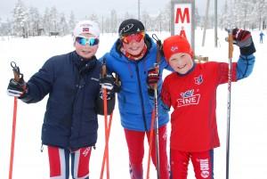 Einar L. Solbrekken, Thomas Sørbøen og Mikkel L. Johansen på Gutter max 13år