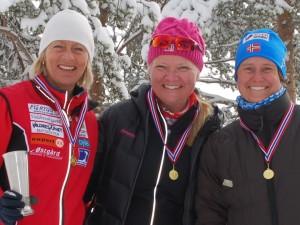 Anne Dyve, Merethe Lundene og Mona Thorsrud på senior kvinner