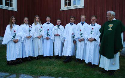 Konfirmasjon i Bagn kyrkje