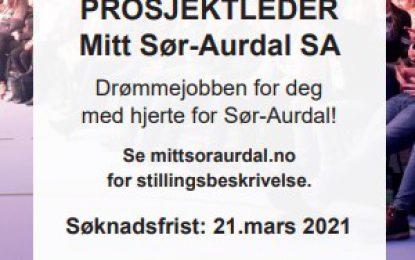 Ledig stilling – Mitt Sør-Aurdal